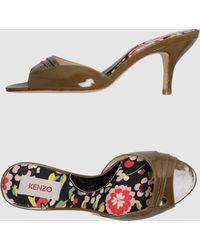 Kenzo Khaki Highheeled Sandals - Lyst