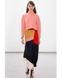 Issa Debi Colour Block Skirt - Lyst