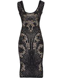 Hervé Léger Kneelength Dress - Lyst
