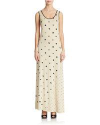 Kensie Printed Maxi Dress - Lyst