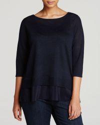 Eileen Fisher Plus Ballet Neck Sweater - Lyst