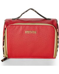 Kenneth Cole Reaction Red Saffian Front Zip Train Case - Lyst