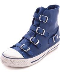 Ash Virgin High Top Sneakers Cobalt - Lyst