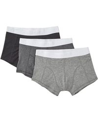 Cheap Monday Stretch Trunks 3 Pack gray - Lyst