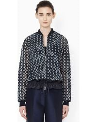 3.1 Phillip Lim Bomber With Drawstring Cinched Hem black - Lyst