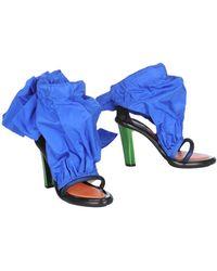 Kenzo Blue Platform Sandals - Lyst