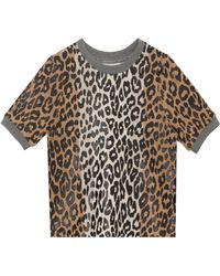Elizabeth And James Leopard Print Sweater - Lyst