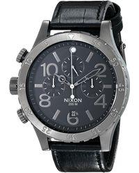 Nixon The 48-20 Chrono Leather - Lyst