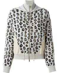 Blumarine Leopard Pattern Knit Hoodie - Lyst