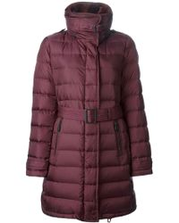 Burberry Belted Padded Coat - Lyst
