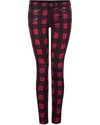 Dex - Buffalo Check Skinny Jeans - Lyst