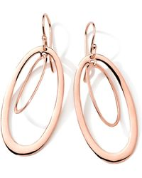 Ippolita 18K Rose Gold Smooth Double Open Oval Earrings - Lyst