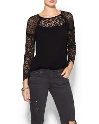 Twelfth Street by Cynthia Vincent Contrast Lace Blouse - Lyst