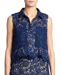 Elle Sasson Cisco Lace Overlay Top - Lyst