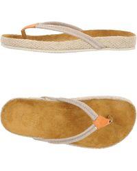 Enrico Fantini Thong Sandal beige - Lyst