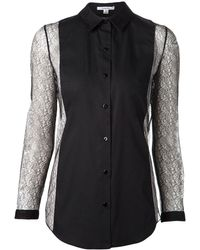 Carven Lace Sleeve Shirt - Lyst