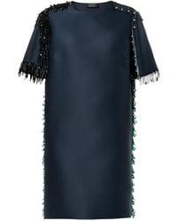 Lanvin Bead-embellsed Mikado Dress - Lyst
