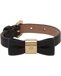 Mulberry Bow Bracelet black - Lyst
