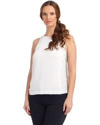 French connection Embellished Tank - Lyst