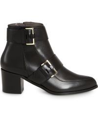 Jason Wu Leather Buckle Boot - Lyst