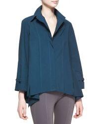 Donna Karan New York Long-Sleeve Roll-Sleeve Button-Up Cotton Shirt - Lyst