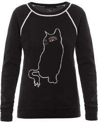 Marc By Marc Jacobs Rue The Cat Intarsiaknit Sweatshirt - Lyst