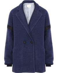 Band of Outsiders - Drop-Shoulder Wool-Blend Felt Coat - Lyst