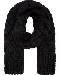 Junya Watanabe - Black Hand_knit Wool Scarf - Lyst