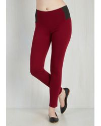 Leggsington - In The Home Stretch Trousers In Wine - Lyst