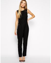 Asos Jumpsuit With Zip Detail - Lyst
