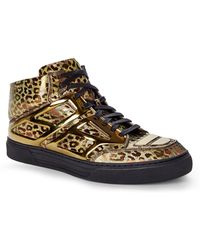Alejandro Ingelmo Bronze Leopard Tron High-Top Sneakers gold - Lyst