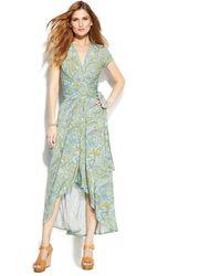 Michael Kors Michael Paisley-Print Wrap Dress - Lyst