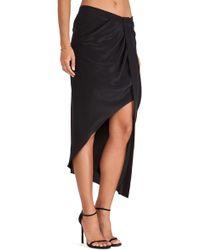 Haute Hippie Asymmetrical Skirt with Tux Stripe - Lyst