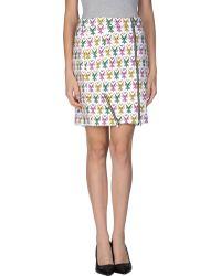 Jeremy Scott Knee Length Skirt - Lyst