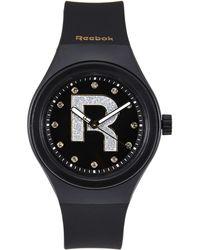 Reebok - Rc-Idb Black & Gold-Tone Watch - Lyst
