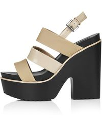 Topshop Scala Chunky Platform Sandals  Nude - Lyst