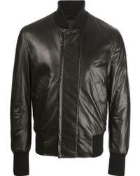 Bottega Veneta Leather Jacket - Lyst