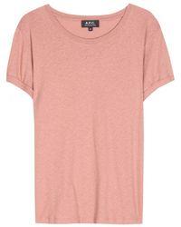 A.P.C. Chic Cotton and Linen-Blend T-Shirt - Lyst