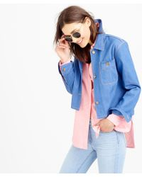 J.Crew Collection Workwear Denim Jacket - Lyst