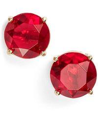 Anne Klein Stone Stud Earrings - Lyst