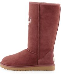 Ugg Monogrammed Classic Tall Boot - Lyst