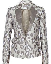 Adam Lippes Leopardjacquard Jacket - Lyst