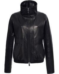 J. Mendel Leather Bomber Jacket - Lyst