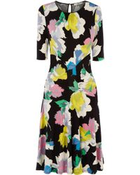 Oasis Bold Bloom Dress multicolor - Lyst