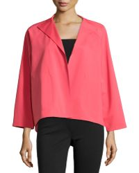 Lafayette 148 New York Open-Front High-Low Topper Jacket - Lyst