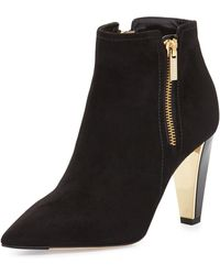 Jimmy Choo Hughie Side-zip Suede Ankle Boot - Lyst
