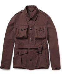 Burberry Prorsum - Cotton-Blend Twill Field Jacket - Lyst