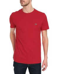 Lacoste Basic Red T-Shirt - Lyst