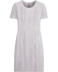 Burberry Crocheted Lace Dress - Lyst