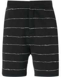 T By Alexander Wang - Scribble Print Track Shorts - Lyst